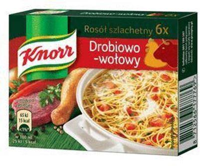 Picture of BULION KNORR ROSOL SZLACHETNY DROBIOWO-WOLOWY 3L KOSTKA 6szt.