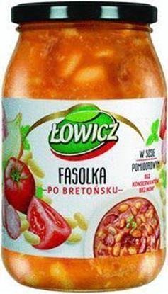 Picture of DANIE LOWICZ 940G FASOLKA PO BRETONSKU Z KIELBASA I BOCZKIEM