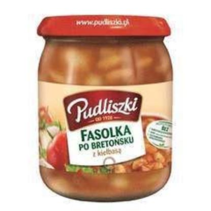 Picture of FASOLKA PO BRETONSKU Z KIELBASA 500G PUDLISZKI