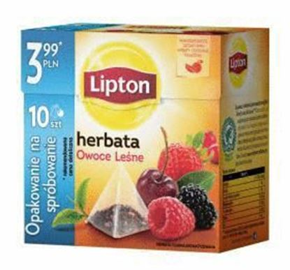 Picture of HERBATA LIPTON EXP OWOCE LESNE 10*1,7G PIRAMIDKI