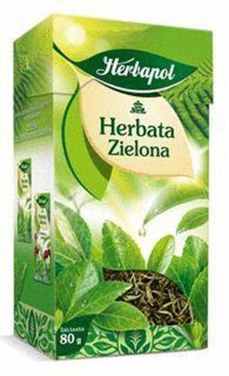 Picture of HERBATA ZIELONA LISC 80G HERBAPOL