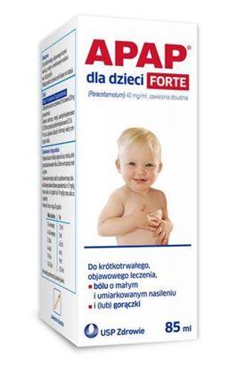 Picture of Apap dla dzieci FORTE, 40 mg/ml, zawiesina doustna, 85 ml