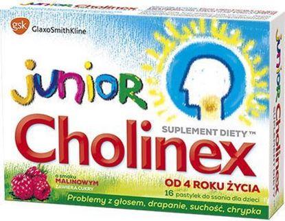 Picture of Cholinex Junior, pastylki do ssania, smak malinowy, 16 szt.