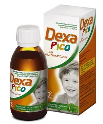 Picture of DexaPico, (1625 mg + 6,5 mg)/5ml, syrop, 115 ml