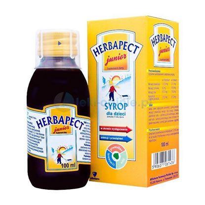 Picture of Herbapect Junior, bananowy, dla dzieci powyżej 3 lat, syrop, 100ml