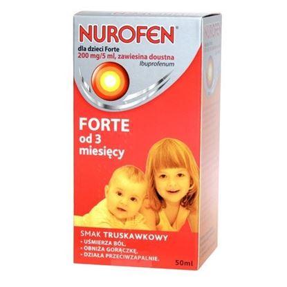 Picture of Nurofen Forte, zawiesina doustna dla dzieci, od 3 miesiąca, smak truskawkowy, 50ml