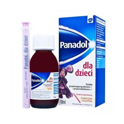 Picture of Panadol, zawiesina doustna, smak truskawkowy dla dzieci od 3 miesiąca 0.12g/5ml, 100ml