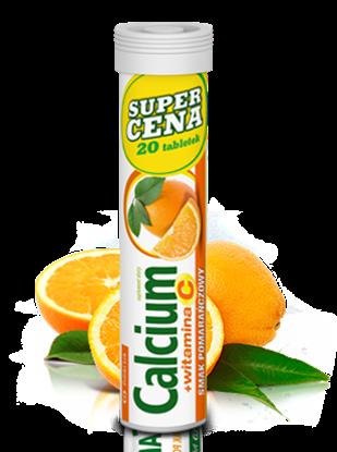 Picture of Calcium + witamina C o smaku pomarańczowym, 20 tabletek musujących