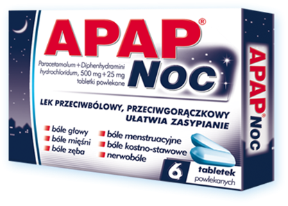 Picture of Apap noc, 6 tabletek