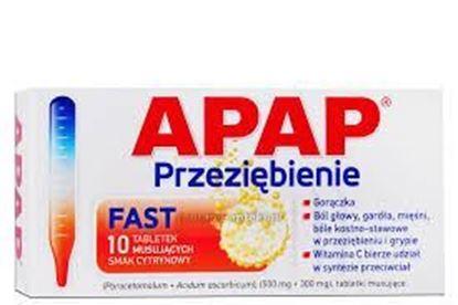 Picture of Apap Bol i Goraczka, 500 mg + 300 mg, 10 tabletek musujących