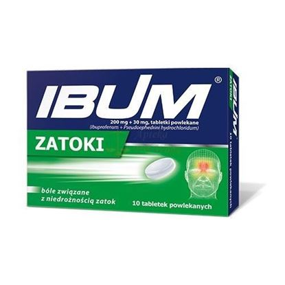Picture of Ibum zatoki, 200mg+30mg, 20 tabletek