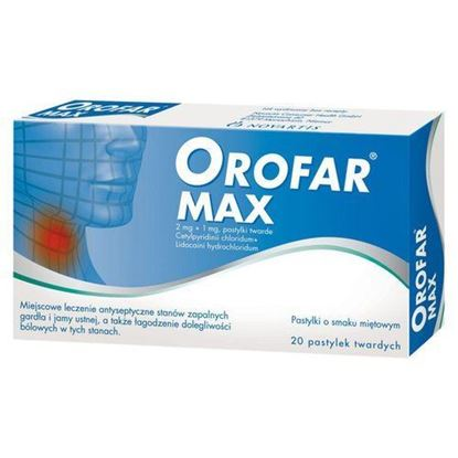 Picture of Orofar max, 20 pastylek