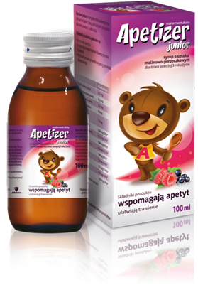 Picture of Apetizer Junior, syrop dla dzieci, 100 ml, malinowo-porzeczkowy