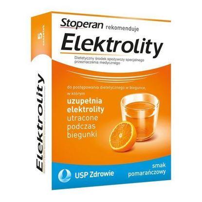 Picture of Elektrolity, proszek, smak pomarańczowy, 7 saszetek