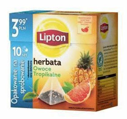 Picture of HERBATA LIPTON EXP OWOCE TROPIKALNE 10*1,7G PIRAMIDKI