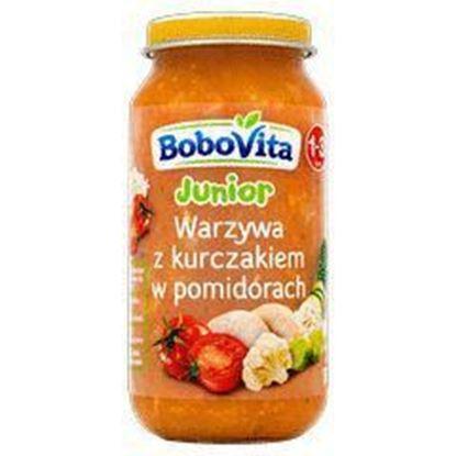 Picture of DANIE BOBOVITA 250G WARZYWA Z KURCZAKIEM W POMIDORACH (12MC)