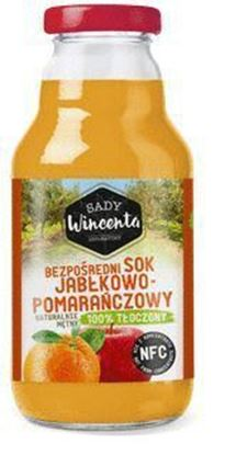 Picture of SADY WINCENTA SOK 100% BUTELKA Jablkowo-pomaranczowy 330ML