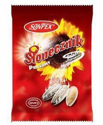 Picture of SLONECZNIK 150G PRAZONY PASIAK SOLONY Z PRZYPRAWAMI SONPEX