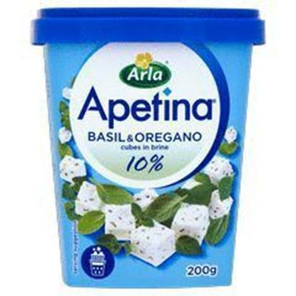 Picture of SER W KOSTKACH APETINA LIGHT BAZYLIA/OREGANO 200G KUBEK ARLA FOODS