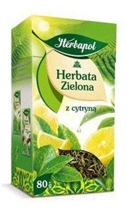 Picture of HERBATA HERBAPOL ZIELONA LISCIASTA Z CYTRYNA 80G