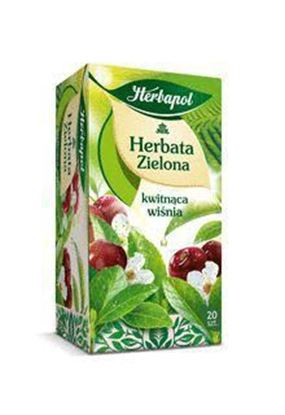 Picture of HERBATA HERBAPOL ZIELONA Z KWIATEM WISNI 20*1,7G