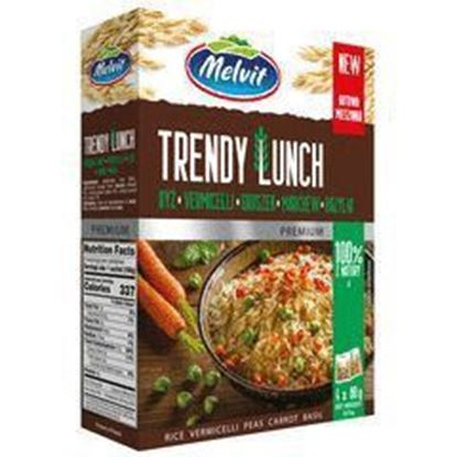 Picture of TRENDY LUNCH 4*80G RYZ, VORMICELLI, GROSZEK, MARCHEW, BAZYLIA MELVIT