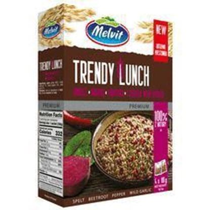 Picture of TRENDY LUNCH 4*80G ORKISZKI, BURAKI, PAPRYKA, CZOSNEK MELVIT