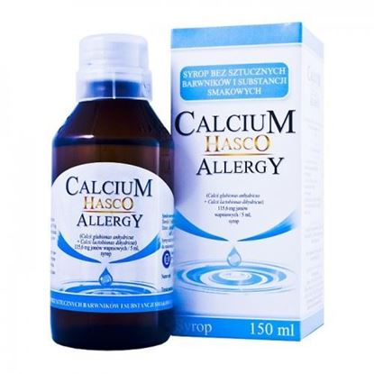 Picture of Calcium Hasco, allergy, syrop bezsmakowy, 150ml