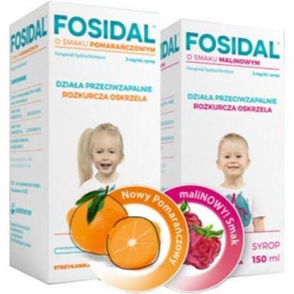 Picture of Fosidal, syrop 2mg/ml, strzykawka, smak malinowy, 150ml