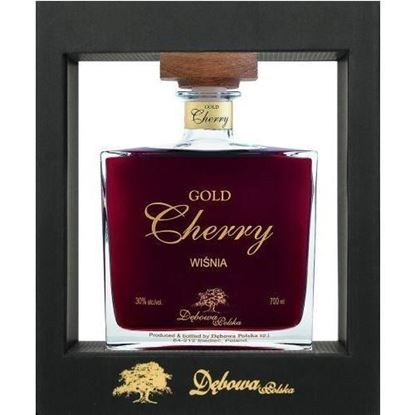 Picture of GOLD CHERRY KARAFE EXCLUSIVE CASE DEBOWA LIKIER 0.7L (ZLOTA WISNIA KARAFKA)