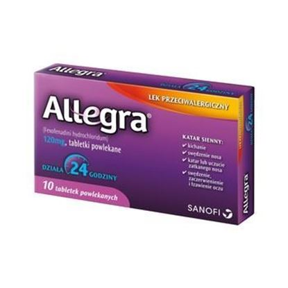 Picture of Allegra 120mg, 10 tabletek