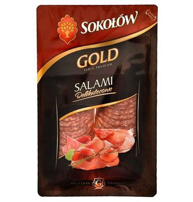 Picture of SALAMI DELIKATESOWE PLASTRY 100G SOKOLOW