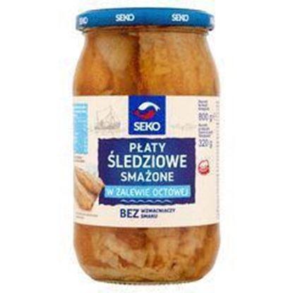 Picture of PLATY SLEDZIOWE SMAZONE W ZALEWIE OCTOWEJ 800G SEKO