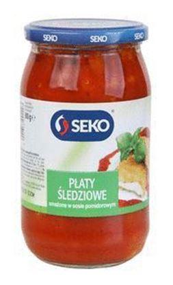 Picture of PLATY SLEDZIOWE SMAZONE W SOSIE POMIDOROWYM 800G SEKO