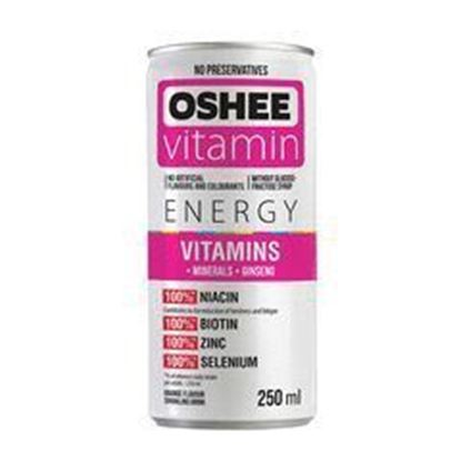 Picture of NAPOJ VITAMIN ENERGY WITAMINY + MINERALY GAZ 250ML OSHEE PINK