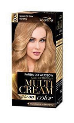 Picture of FARBA DO WLOSOW MULTI CREAM COLOR 3D 30.5 SLONECZNY BLOND JOANNA