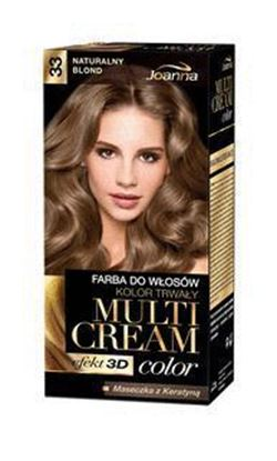 Picture of FARBA DO WLOSOW MULTI CREAM COLOR 3D 33 NAURALNY BLOND JOANNA