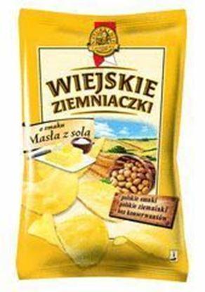 Picture of CHIPSY WIEJSKIE ZIEMNIACZKI MASLO I SOL 130G LORENZ