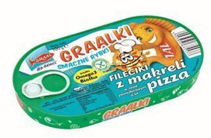 Picture of FILECIKI Z MAKRELI O SMAKU PIZZY GRAALKI 100G GRAAL
