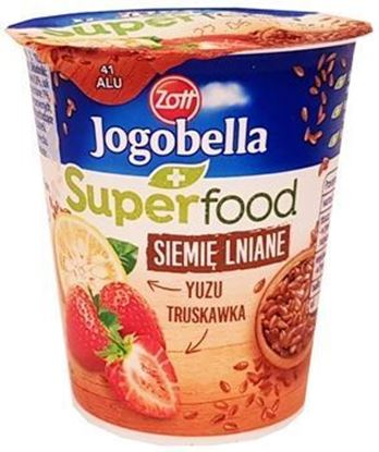 Picture of JOGURT JOGOBELLA SUPERFOOD TRUSKAWKA-YUZU SIEMIE LNIANE 150G ZOTT
