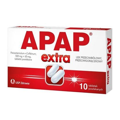 Picture of Apap Extra, 500 mg + 65 mg, tabletki powlekane, 10 szt.