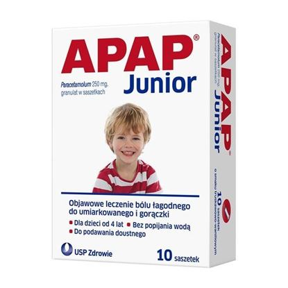 Picture of Apap Junior, 250 mg, granulat, 10 saszetek