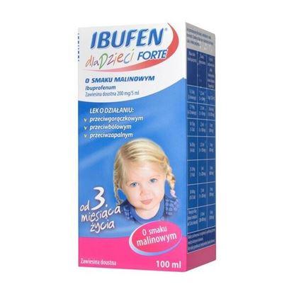 Picture of Ibufen dla dzieci FORTE o smaku malinowym, 200 mg/5 ml, zawiesina doustna, 100 ml