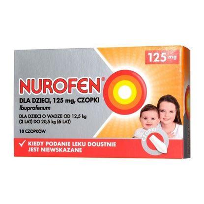 Picture of Nurofen dla dzieci, 125 mg, czopki, 10 szt.