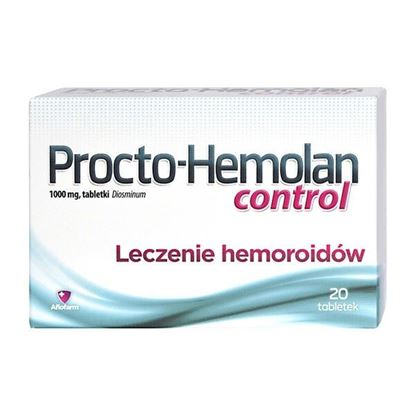 Picture of Procto-Hemolan control, 1000 mg, tabletki, 20 szt.