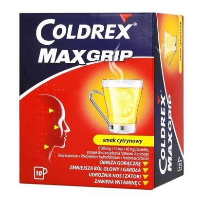 Picture of Coldrex MaxGrip, proszek do sporządzania roztworu doustnego w saszetkach, smak cytrynowy, 10 szt.
