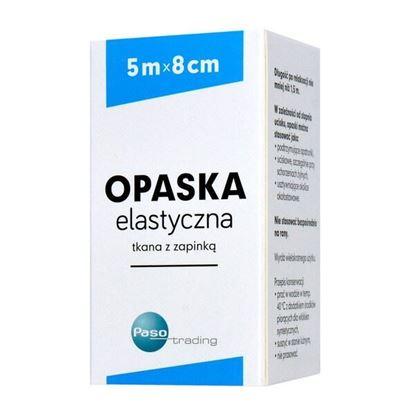 Picture of Opaska elastyczna, tkana, z zapinką, 5 m x 8 cm, 1 szt. (Paso)