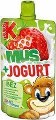 Picture of MUS KUBUS Z JOGURTEM TRUSKAWKA-JABLK-BANAN SASZETKA 80G MASPEX