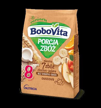 Picture of KASZKA BOBOVITA MLECZNA PORCJA ZBOZ 7 ZBOZ OWOCOWA 210G (8MC)