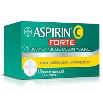 Picture of Aspirin C Forte, 800 mg + 480 mg, tabletki musujące, 10 szt.